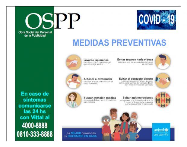 OSPP COVID-19 Medidas preventivas